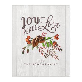 Joy, Peace Love Christmas Swag ID438 Acrylic Wall Art