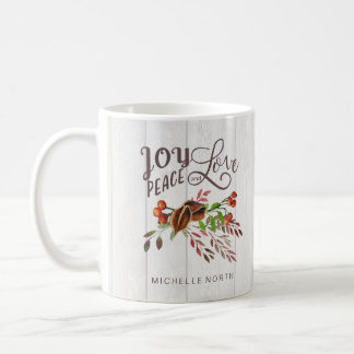 Joy, Peace Love Christmas Swag ID438 Coffee Mug