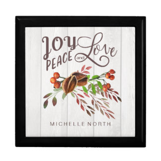 Joy, Peace Love Christmas Swag ID438 Gift Box