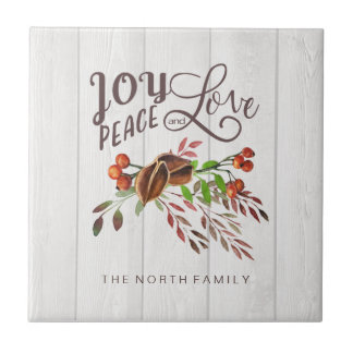 Joy, Peace Love Christmas Swag ID438 Tile
