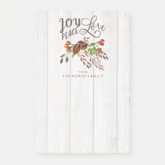 Joy, Peace Love Christmas Swag V1 ID438 Post-it Notes
