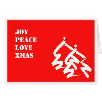 Joy Peace Love Xmas Greeting Card
