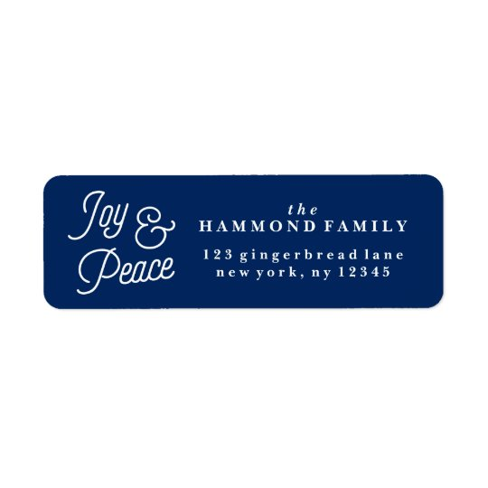 Joy & Peace Return Address Label