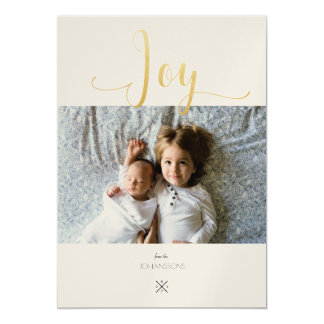 Joy photo greeting card 2017 13 cm x 18 cm invitation card