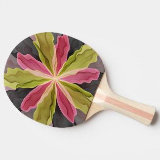Joy, Pink Green Anthracite Fantasy Flower Fractal