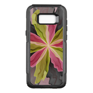 Joy, Pink Green Anthracite Fantasy Flower Fractal OtterBox Commuter Samsung Galaxy S8+ Case