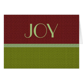 Joy Red and Green Christmas Card