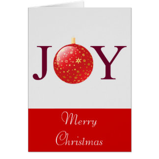 Joy Red Christmas Decoration Card