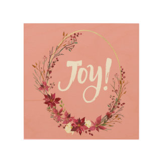 Joy Reef In Reds And Pinks Wood Wall Art