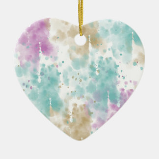 Joy Rises from the Soul Abstract Ceramic Heart Decoration