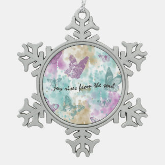 Joy Rises from the Soul Pewter Snowflake Decoration