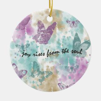 Joy Rises from the Soul Round Ceramic Decoration