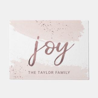 Joy | Rose Gold Christmas Doormat