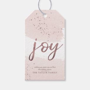 276cc838c2e1a Joy   Rose Gold Christmas Gift Tags