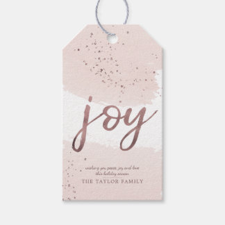 Joy | Rose Gold Christmas Gift Tags