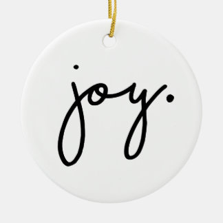 Joy Round Ceramic Decoration