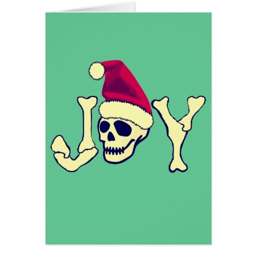 Joy - Santa SKull Cards