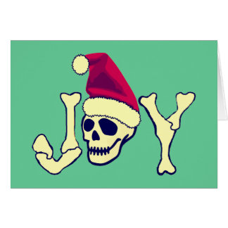 Joy - Santa SKull Greeting Card