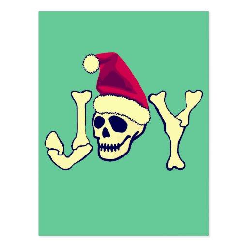 Joy - Santa SKull Postcards
