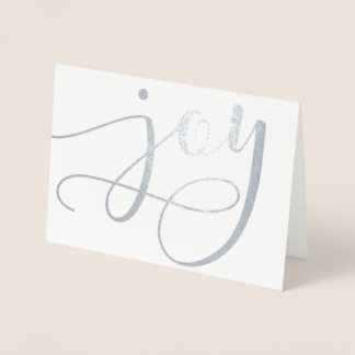 Joy Script (Real Foil) Holiday Card