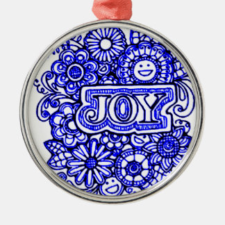 Joy Silver-Colored Round Decoration
