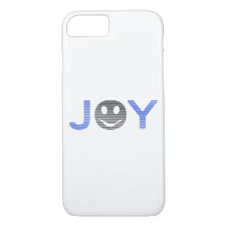 Joy - smiley - strips - blue and black. iPhone 8/7 case