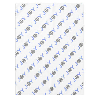 Joy - smiley - strips - blue and black. tablecloth