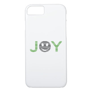 Joy - smiley - strips - green and black. iPhone 8/7 case