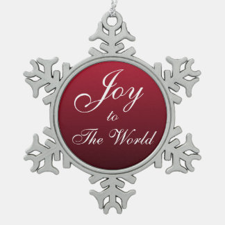 Joy Snowflake Ornament