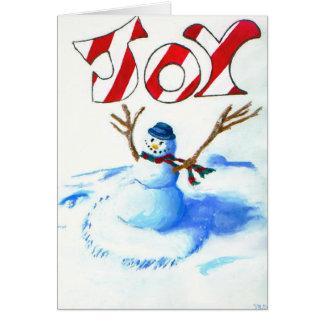 Joy Snowman Card