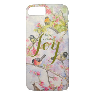 Joy Songbirds Watercolor Art Phone Case