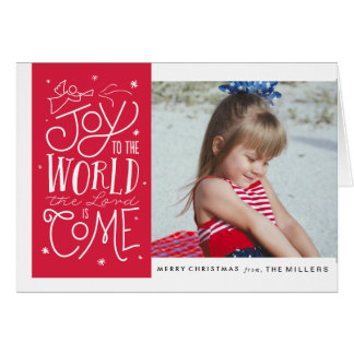 Joy to the World 5x7 Folded Card