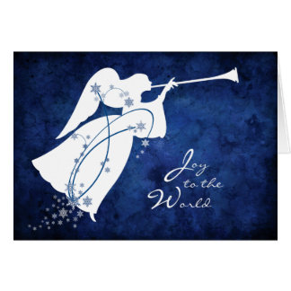 """Joy to the World"" Angel Christmas Card"