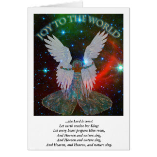 Joy to the World Angel Christmas Card