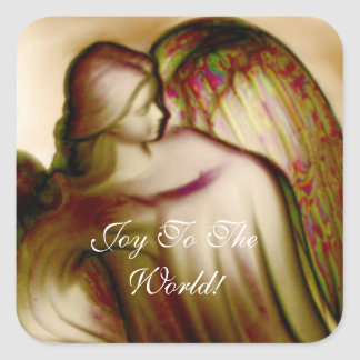Joy To The World Angel Sticker