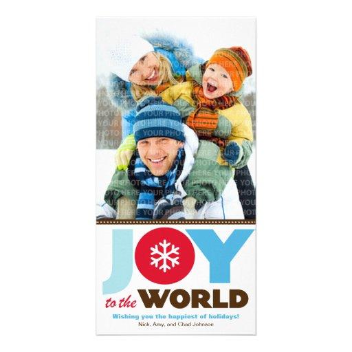 Joy to the World (Blue) Holiday Photo Card