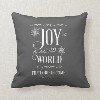 Joy to the World Chalkboard Christmas Pillow