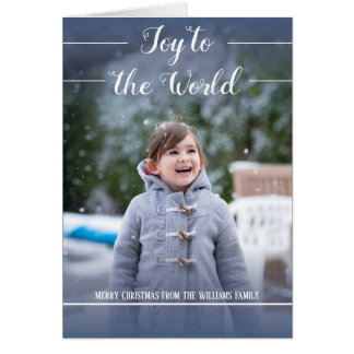 Joy to the World - Christmas Card - Folded Card