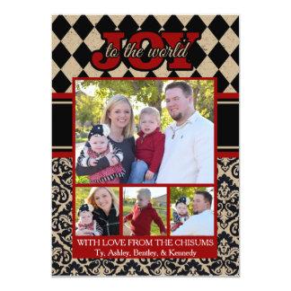 Joy to the World Christmas Card with Family Photos