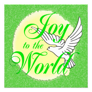 Joy to the World Christmas Invitation