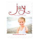 Joy To The World Christmas Kids Holiday Photo Card Custom Invitations