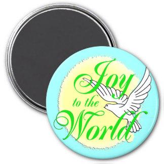 Joy to the World Christmas Magnet