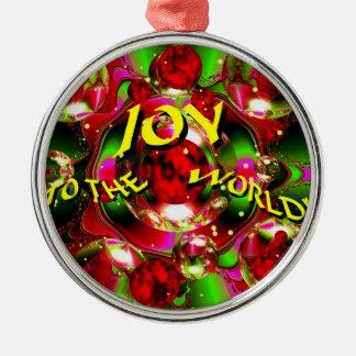 """JOY TO THE WORLD""  CHRISTMAS ORNAMENT"