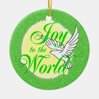 Joy to the World Christmas Ornament Round