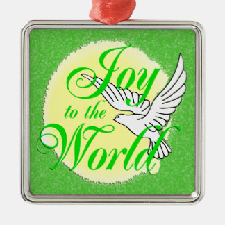 Joy to the World Christmas Ornament Square
