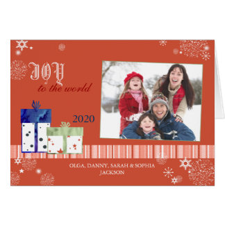 JOY TO THE WORLD Christmas Photo Card