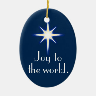 Joy to the world Christmas song ornament
