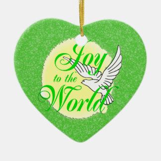 Joy to the World Christmas Star Ornament