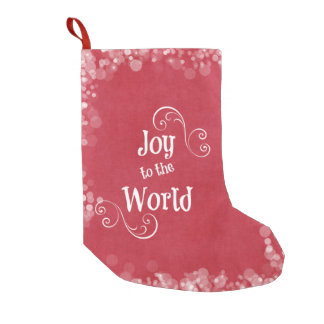 Joy to the World Small Christmas Stocking