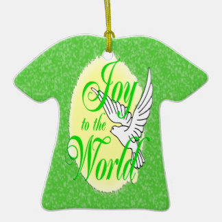 Joy to the World Christmas T-Shirt Ornament